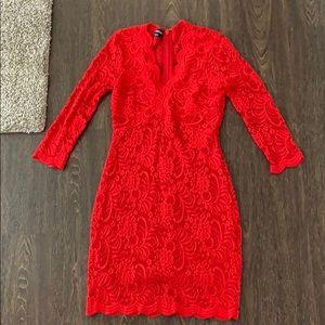bebe red dress